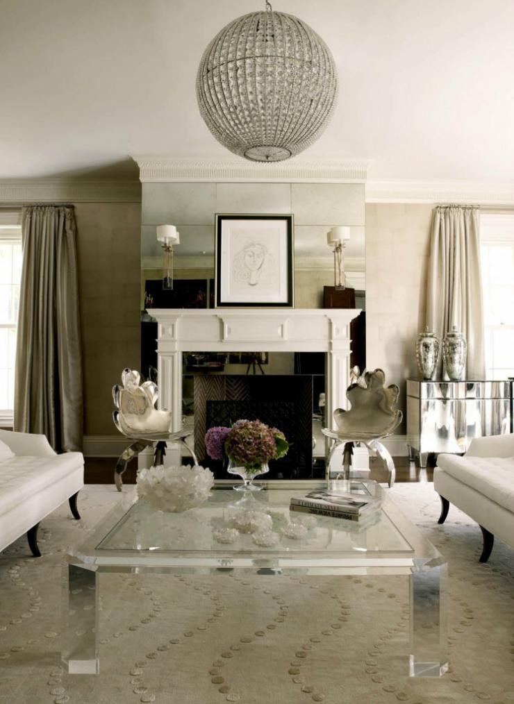 Modern Glamour Living Room 14