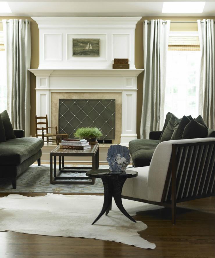 modern glamour living room 2