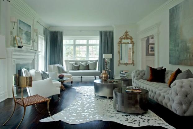 modern glamour living room
