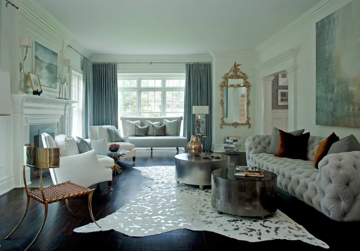 living room ideas blend modern glamour with classic On modern glam living room