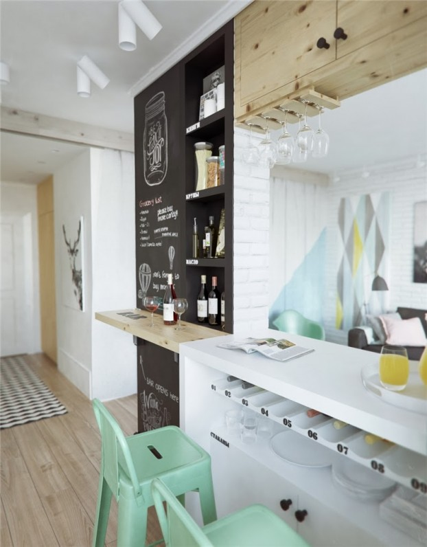 scandinavian contemporary small apartment 2