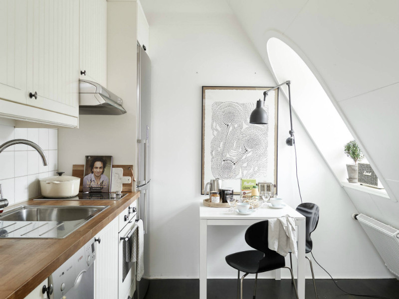 Scandinavian sophisticated small apartment interior 10