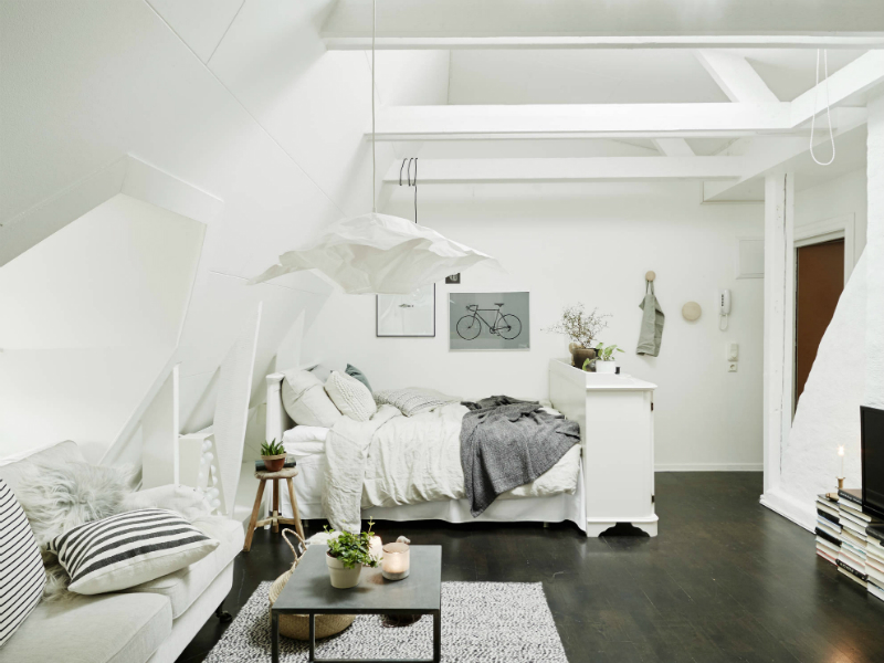 Scandinavian sophisticated small apartment interior 3
