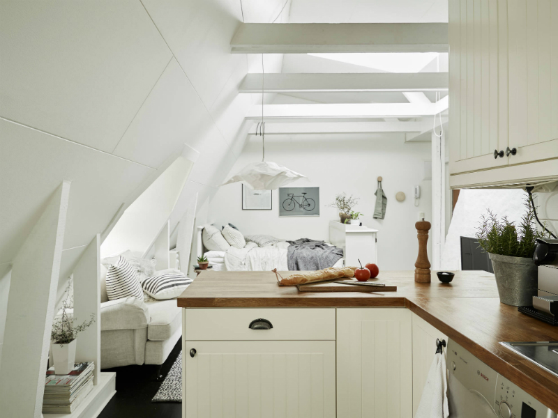 Scandinavian sophisticated small apartment interior 8