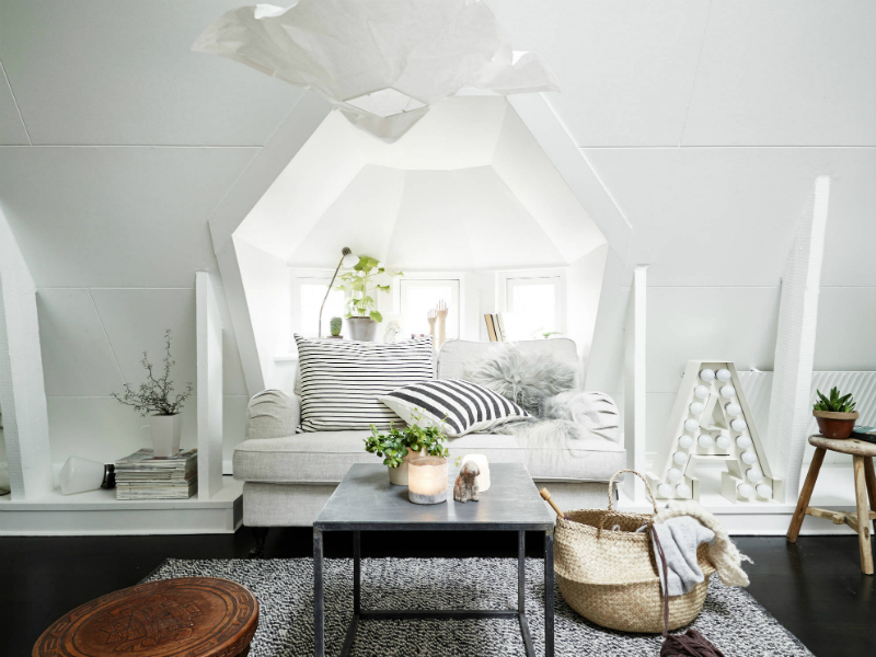 Scandinavian sophisticated small apartment interior