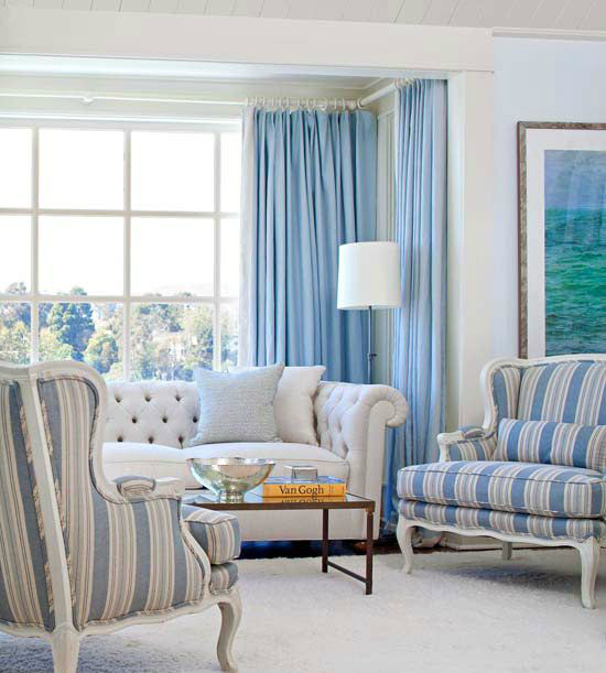 Small Living Room Tip Lighter Blue Color Theme