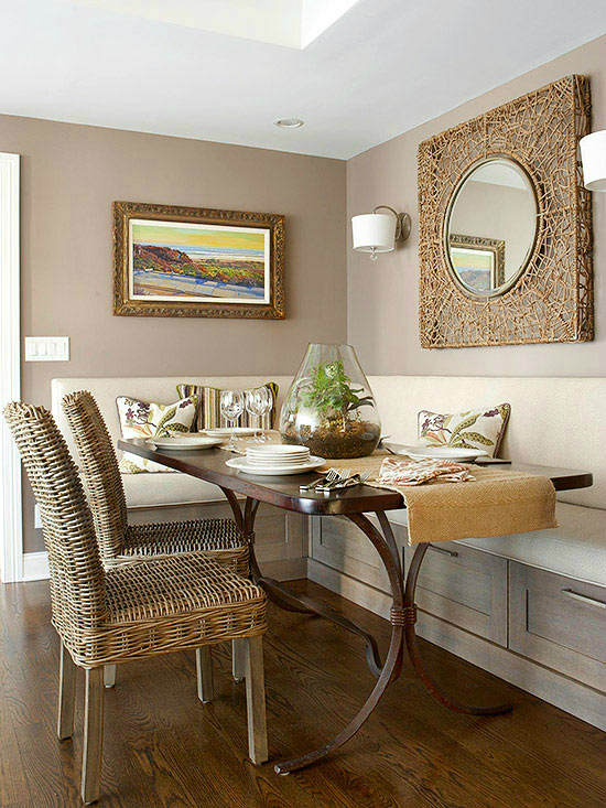 10 tips for small dining rooms 28 pics decoholic for Breakfast room design