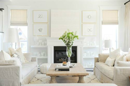 White Living Room Ideas 13