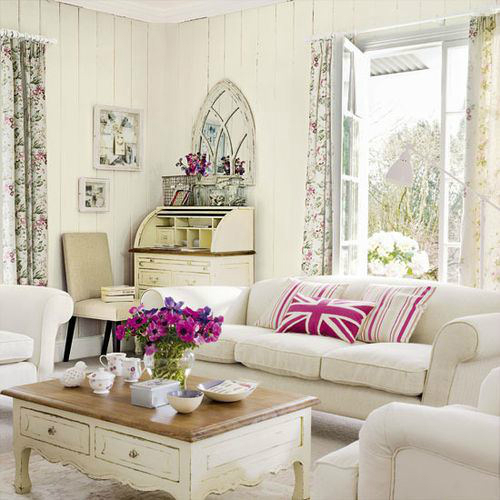 White Living Room Ideas 29
