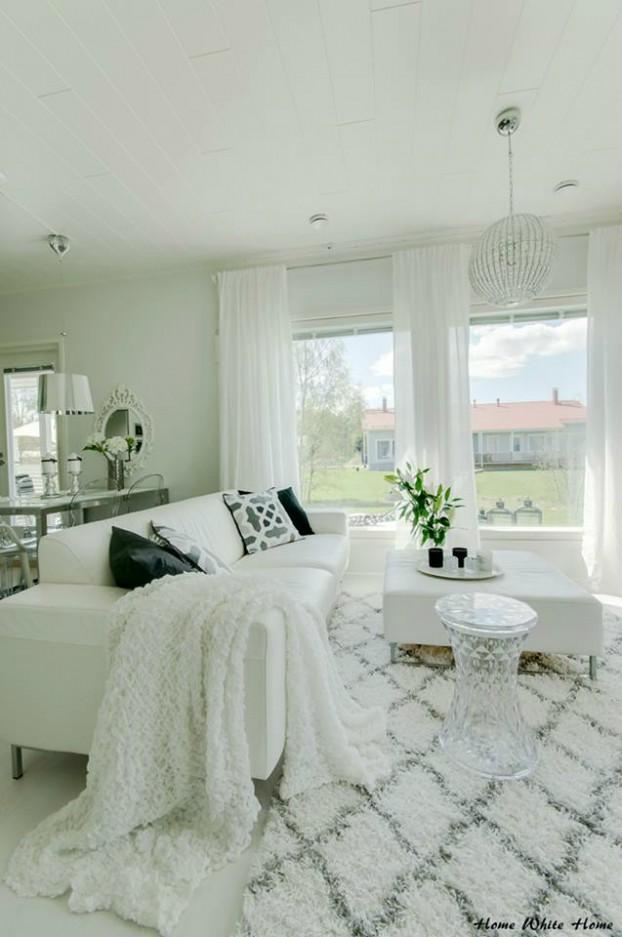 White Living Room Ideas 49