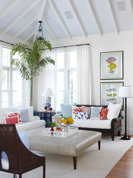 White Living Room Ideas 53