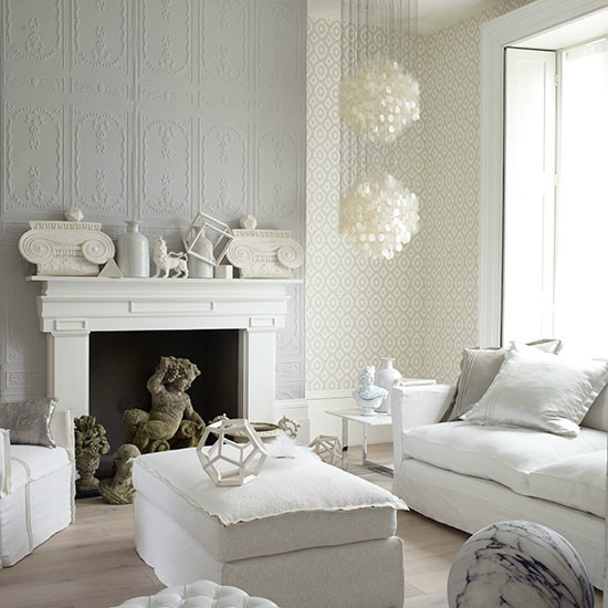 White Living Room: 64 White Living Room Ideas