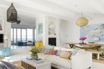 White home interior With Splashes Of Vibrant Hues