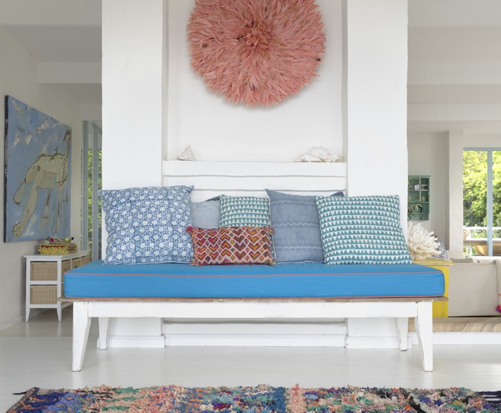 White home interior With Splashes Of Vibrant Hues 2