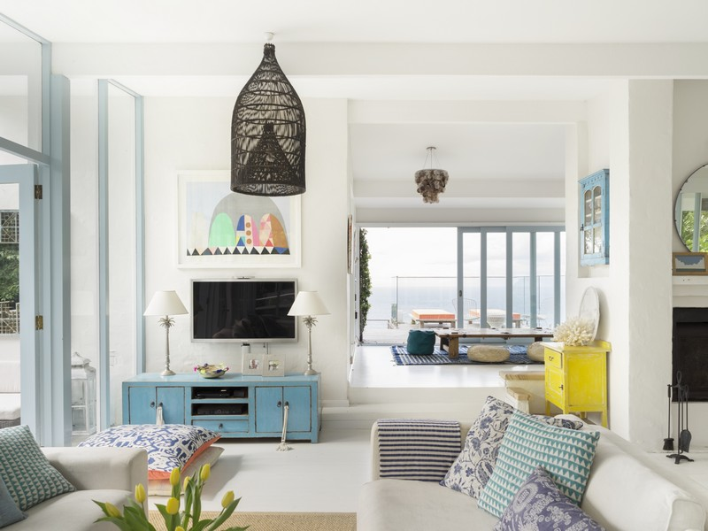 White home interior With Splashes Of Vibrant Hues 3