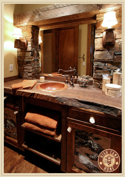 44 reclaimed wood rustic countertop ideas decoholic Rustic bathroom decor ideas