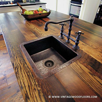 44 Reclaimed Wood Rustic Countertop Ideas 12