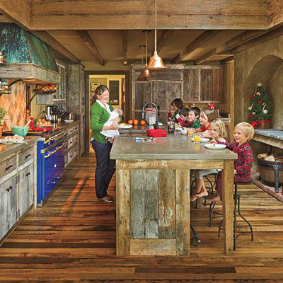 44 Reclaimed Wood Rustic Countertop Ideas 13