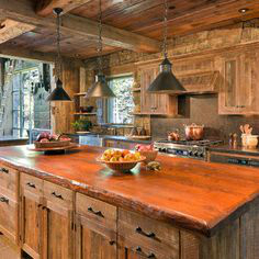 44 Reclaimed Wood Rustic Countertop Ideas 15