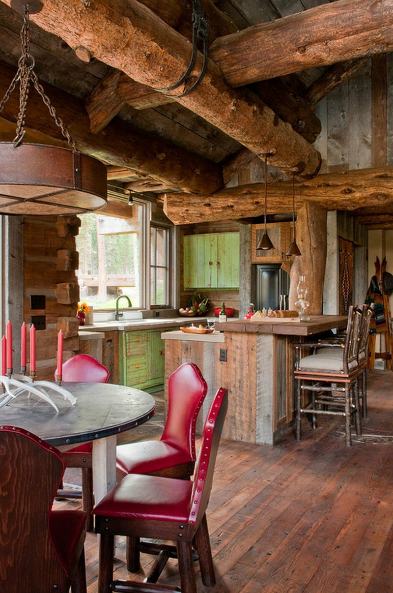 44 Reclaimed Wood Rustic Countertop Ideas 16