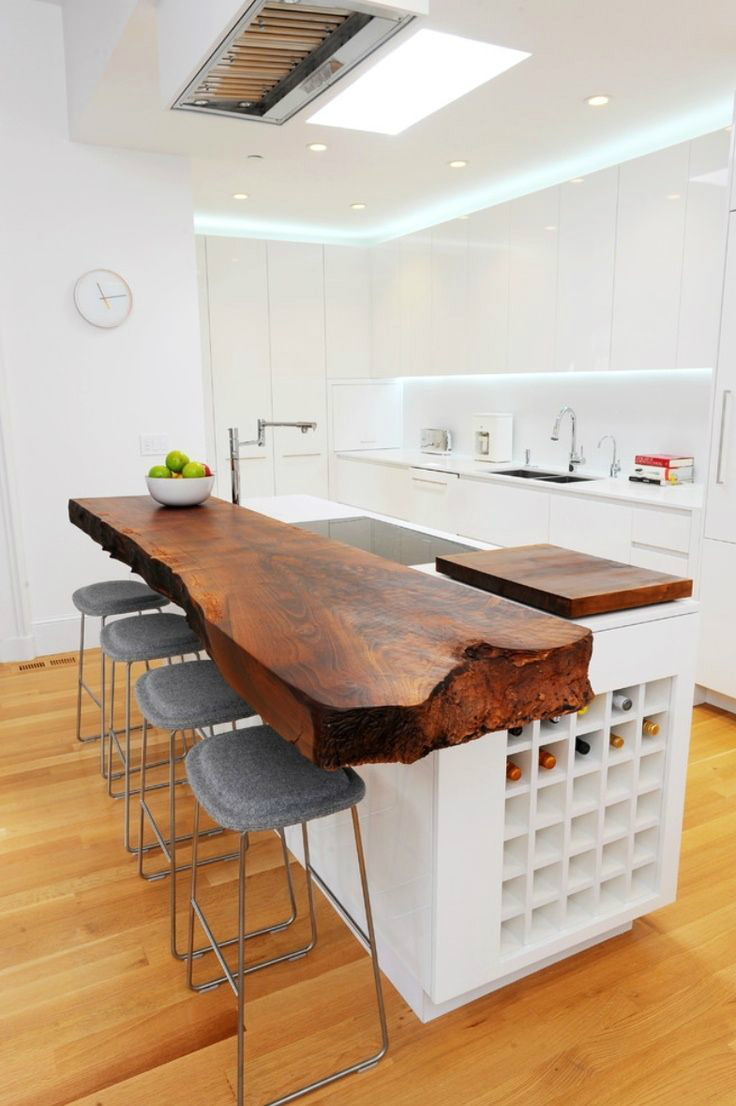 44 Reclaimed Wood Rustic Countertop Ideas 2