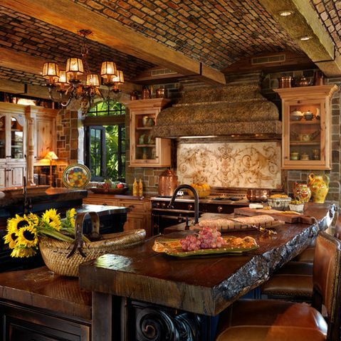 44 reclaimed wood rustic countertop ideas decoholic Rustic tuscan house plans