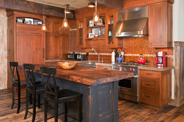 ... 44 Reclaimed Wood Rustic Countertop Ideas 25