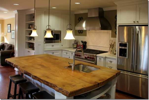 wood kitchen countertops 44 reclaimed wood rustic countertop ideas decoholic 13148