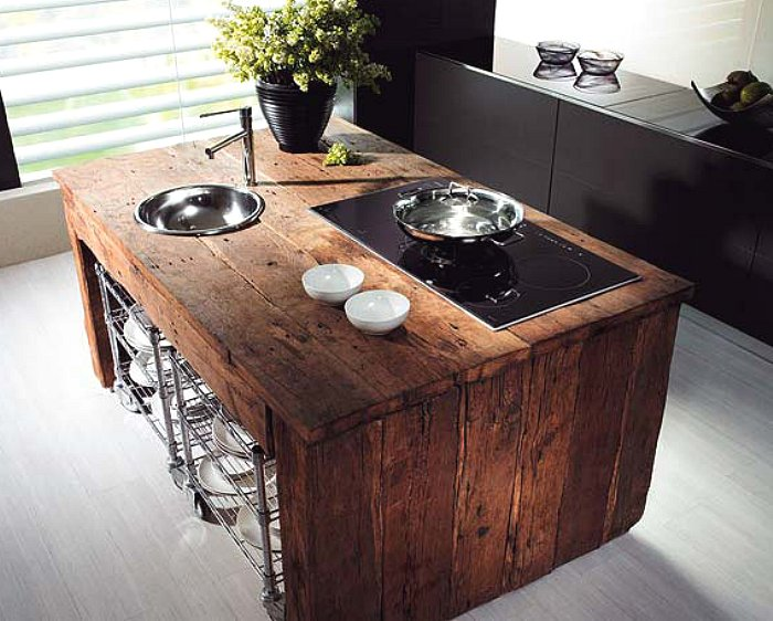 44 Reclaimed Wood Rustic Countertop Ideas 44