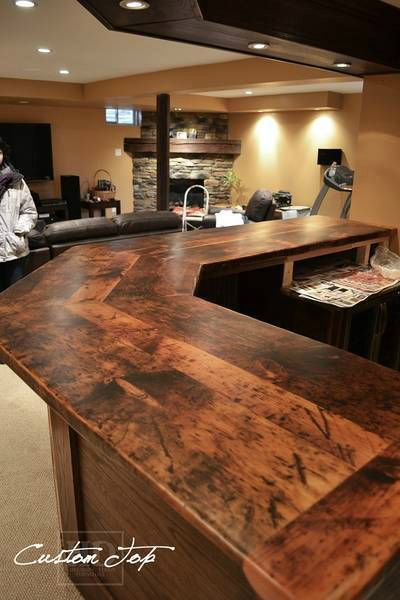 44 Reclaimed Wood Rustic Countertop Ideas 8