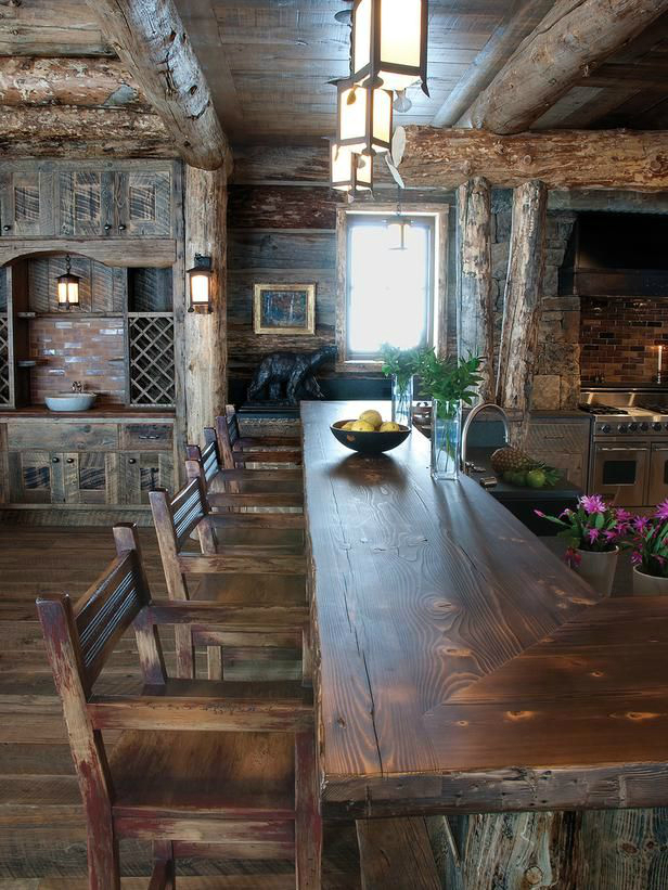 44 Reclaimed Wood Rustic Countertop Ideas 9
