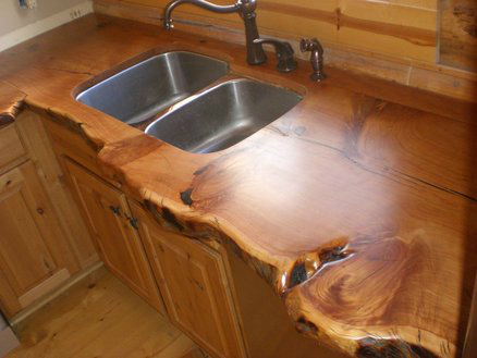 ... 44 Reclaimed Wood Rustic Countertop Ideas