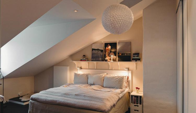 Modest Elegant Scandinavian Loft interior 10