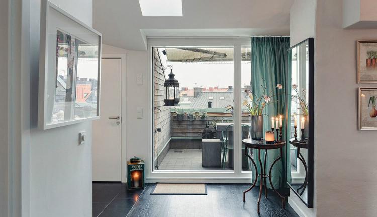Modest Elegant Scandinavian Loft interior 11