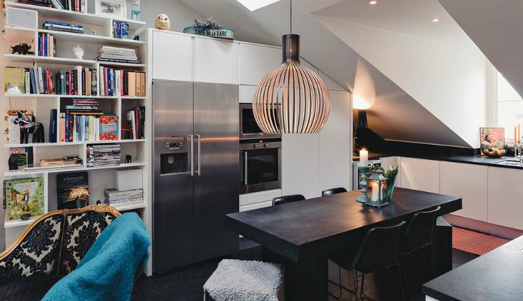 Modest Elegant Scandinavian Loft interior 2