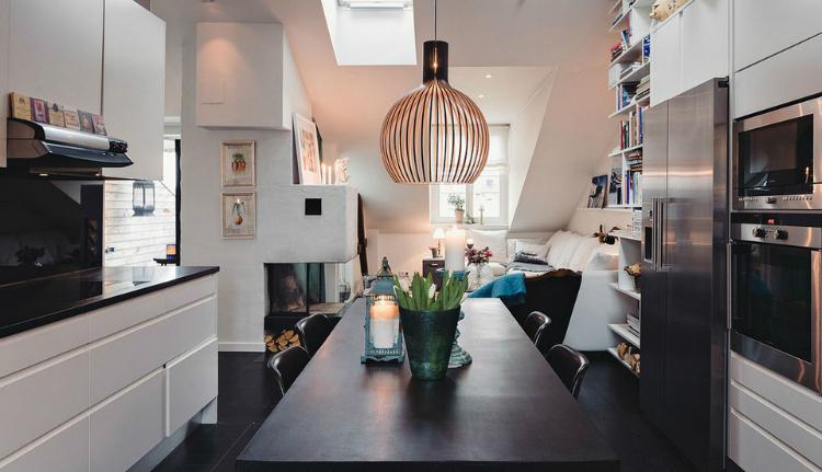 Modest Elegant Scandinavian Loft interior 4