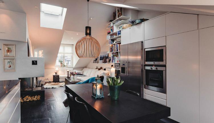 Modest Elegant Scandinavian Loft interior 5