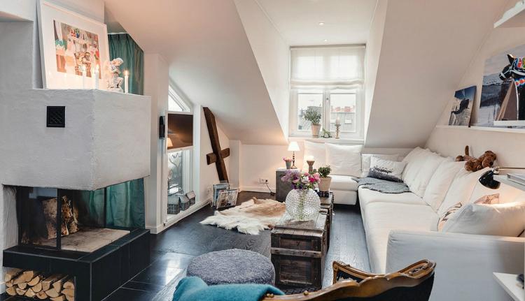 Modest Elegant Scandinavian Loft interior 6
