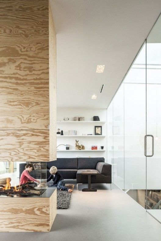 big glass separator in home decor