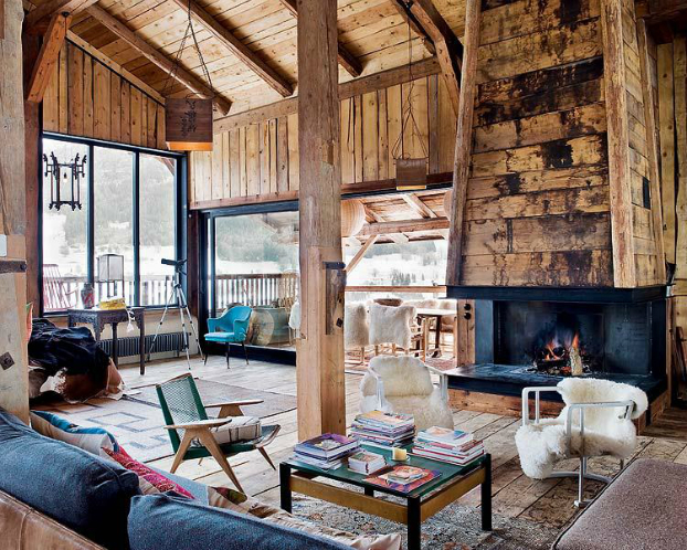 all wood living room style