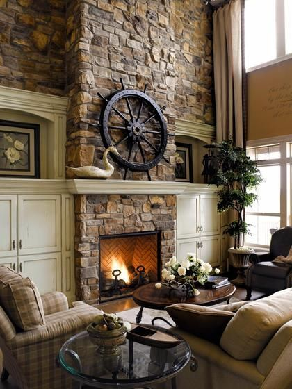 exposed bricks and beige living room colors