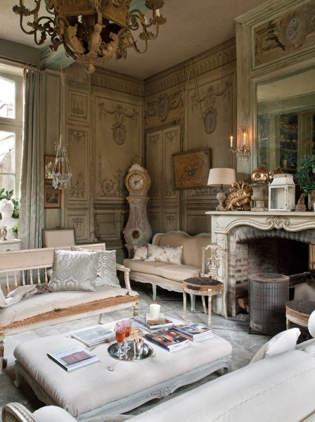 French Romance Through A Poetic Setting Of Antiques And Shabby Chic Furniture 3
