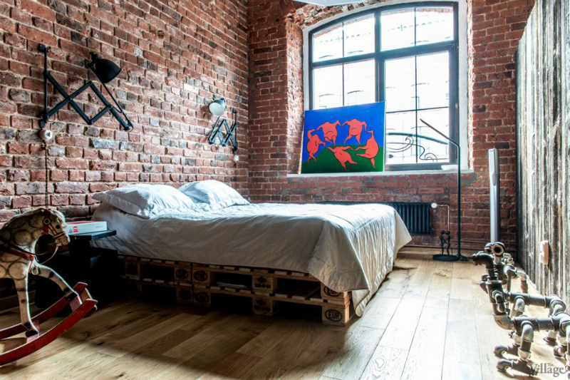 loft interiors with brick walls and wood 10