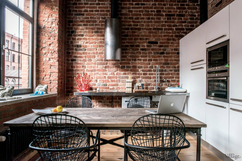 loft interiors with brick walls and wood 5