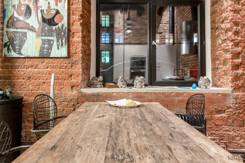 loft interiors with brick walls and wood 7