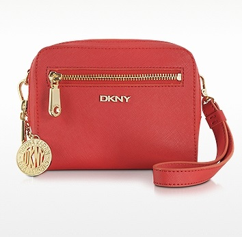 26229cfd5eb5 DKNY Bryant Park Saffiano Leather red small crossbody bag