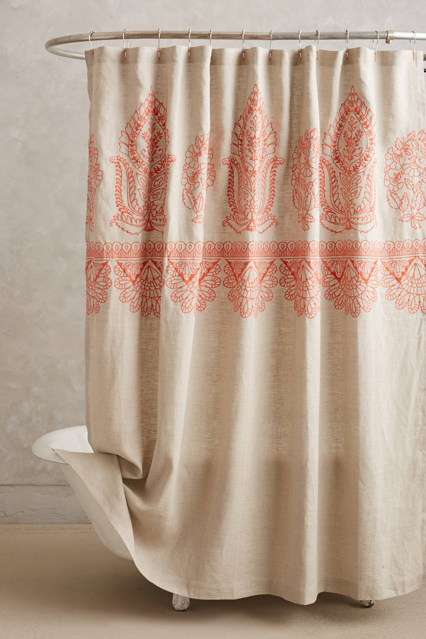 embroidered linen shower curtain. top  shower curtains  decoholic
