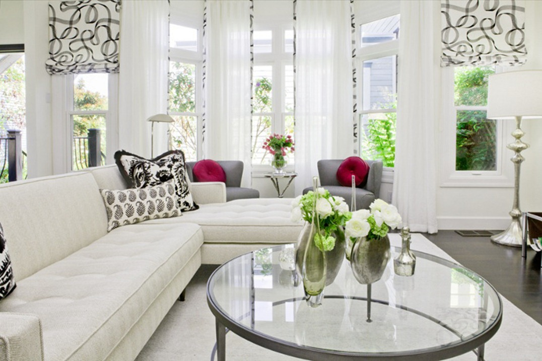 Fashionably elegant living room ideas decoholic for Interior design ideas white living room