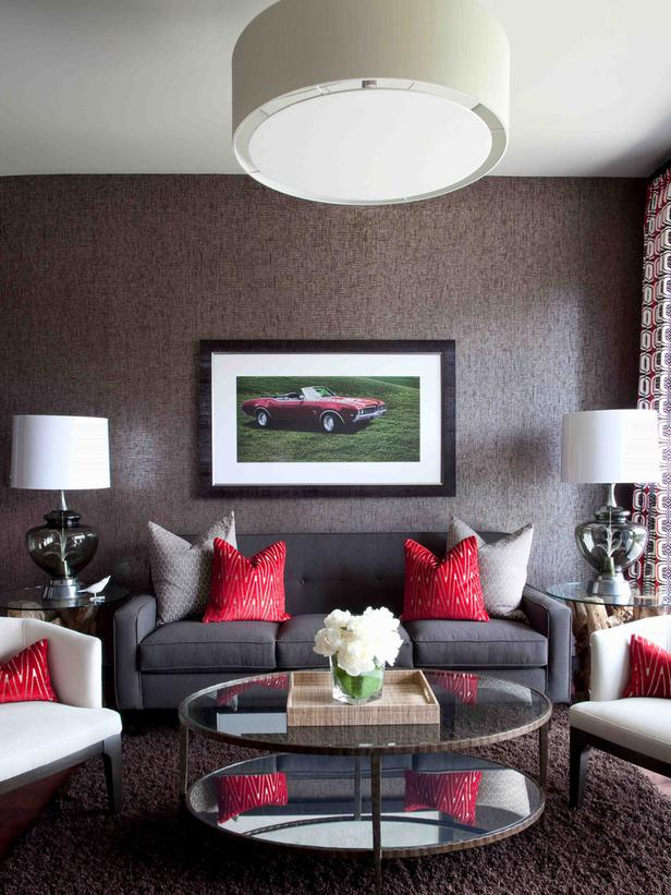 Red And Gray Living Room Part   28: ... Dark Grey And Red Part 38