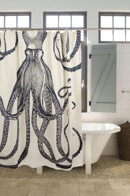 Thomas Paul Shower Curtain - Octopus